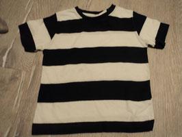 2725 Shirt dunkelblau weiß gestreift kleiner Schattenfleck von REBEL Gr. 98
