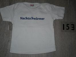 "153 Shirt weiß ""Nachtschwärmer"" Gr. 86"