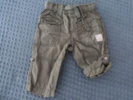 M-108 Shorts khaki -kann man hochknöpfen von H&M Gr. 74
