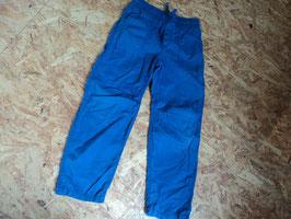 51 Stoffhose in einem schönen blau - unten Gummizug von H&M Gr. 128