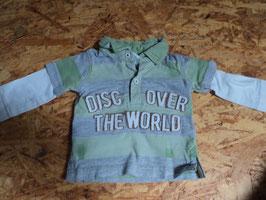 L-60 LA Poloshirt in mint/grau gesreift Discover the world von C&A Gr. 62