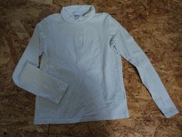SS-117 LA Shirt mit Knopfleiste und Kragen Uni weiß von CYRILLUS Gr. 140