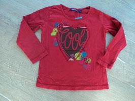 SS-21 LA Shirt rot-mit Aufgenähtem Herz von MEXX Gr. 98/104