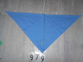 979 Dreieckstuch blau mit Stern