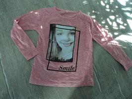 SS-85 ✿LA Shirt rosa meliert mit Mädchen -Make me Smile von NAME IT ✿ Gr. 116