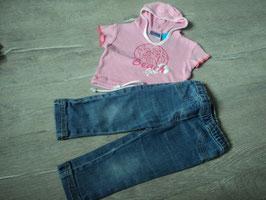 3029 Set Shirt mit Kapuze Beach Girl und passender Treggins von TOPOLINO Gr. 80