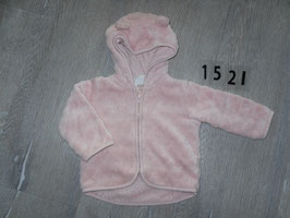 1521 Teddyfell Jacke altrosa von H&M CONSCIOUS Gr. 68