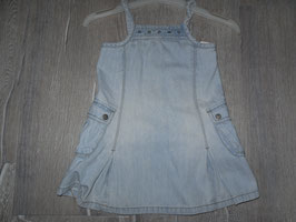 1727 Jeanskleid hell mit Taschen MEXX Gr. 80