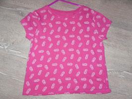 344 Shirt pink mit Ananas Gr. 134