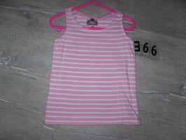 366 Achselshirt rosa weiß gestreift Gr. 104