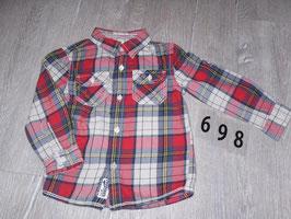 698 Cooles Hemd karriert von TOMMY HILFIGER Gr. 18-24 Monate