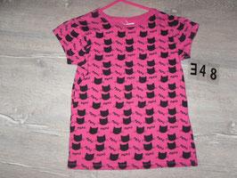 348 Shirt pink mit Katzen Gr. 134