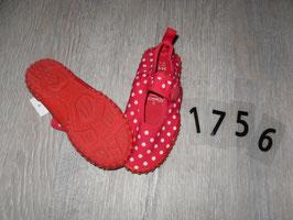 1756 Wasserschuhe rot weiße Punkte von  PLAY SHOES Gr. 24/25