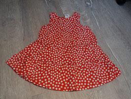 2820 Hängerchen rot mit weißen Punkten von H&M Gr. 80