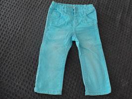 M-110 Jeans türkis -an einem Bein fleckig von NAME IT Gr. 86