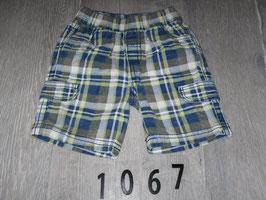 1067 Shorts karriert gelb blau Gr. 80