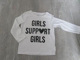 """2159 LA Shirt weiß """"Girls SUPPort GIRLS von NEXT Glitzer  Gr. 98"""