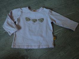 2247 LA Shirt rosa mit Steiffbärchen vorne und Strasssteine von STEIFF Gr.68