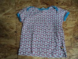 L-56 Shirt rot/weiß/blau mit Affe von LOUD + PROUD Gr. 74/80