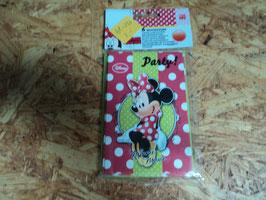 AL-181 6 Einladungskarten mit Umschläge mit Minnie Mouse