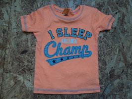 A-60 Cooles Shirt neon orange I Sleep like a Champ von CARTERS Gr. 92/98