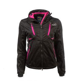 Arrak Outdoor Softshell Jacke AKKA schwarz-pink   SKU 21039-32