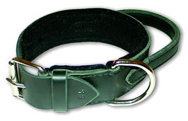 Breites Halsband mit Griff LEDER