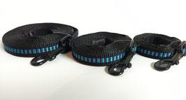 Sportleine schwarz-blau / 15mm