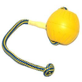 Swing & Fling Dura Foam Ball gelb mit Schnur