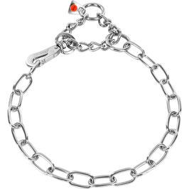 Halskette mit Karabiner + Zug 52540  Edelstahl