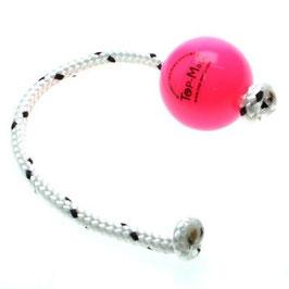 Top Matic Fun Ball Puppy mit Seil pink