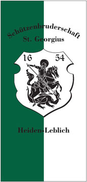 Vereinsfahne Schützenbruderschaft  St. Georgius Heiden Leblich e. V. 1654
