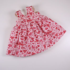 "Kleid ""Omas Liebling"", rosa/ rot Blümchen"