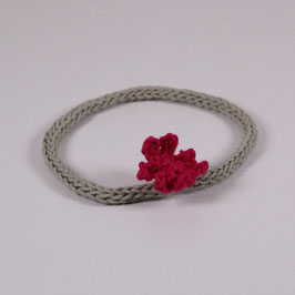 Flower-Power-Haarband khaki/ pink