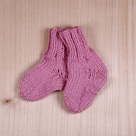 Strick-Socken rosa
