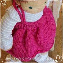 Strick-Rock mit Trägern pink