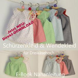 E-Book Schürzenkleid & Wendekleid für Dreikäsehoch (30cm) Nähanleitung