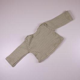 Shirt Ringel limette/ khaki