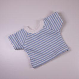 T-Shirt Ringel eisblau/ weiß
