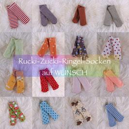 Rucki-Zucki-Ringelsocken auf WUNSCH(Dreikäsehoch)