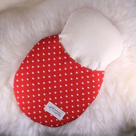 Schlafsack rot Herzchen/ weiß (Dreikäsehoch)
