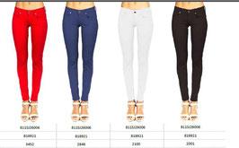 Jeans patalone denim modello -Melissa- colore bianco donna Denny Rose art 811SJ26006 Primavera 2018