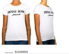 Maglia t-shirt 1/2 manica colore Blu donna Denny Rose art 811SJ64002 Primavera 2018