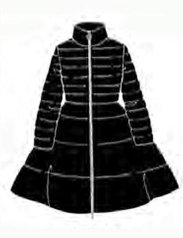 Piumino donna Denny Rose art 821ED35027 Autunno 2018/19 variante colore nero