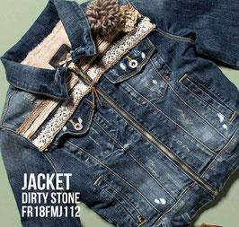 Giubino jeans Jacket denim Donna Fracomina art FR18FmJ112 Autunno 2018/19