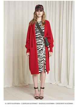 Cardigan in maglia donna Denny Rose art 821DD50027 Autunno 2018/19 colore rosso