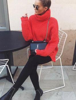 Maxi maglia vari colori Donna art a08 colore rosso