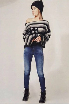 Jeans vita alta Denny Rose art 64dr12004 Autunno 2016/17