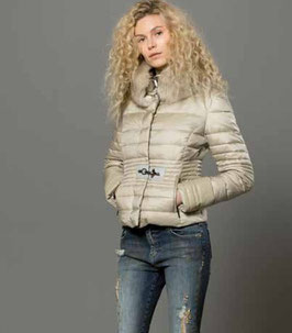 Piumino Jacket denim Donna Fracomina art FR18FM7065 Autunno 2018/19