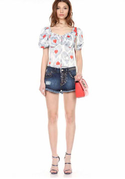 Shorts denim pantalone donna Denny Rose art 812DD20036 Estate 2018